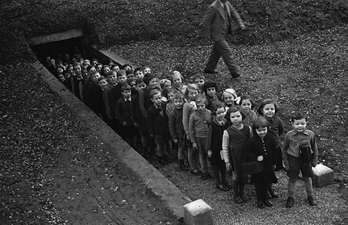 8-Children-Outside-an-Air-Raid-Shelter-1939